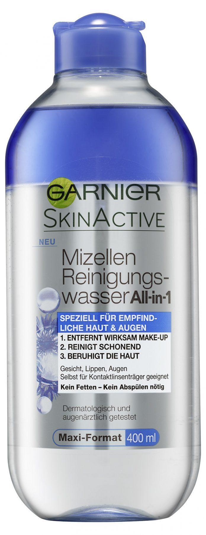 Garnier Mizellen Reinigungswasser All-in-1 Speziell für empfindliche Haut & Augen